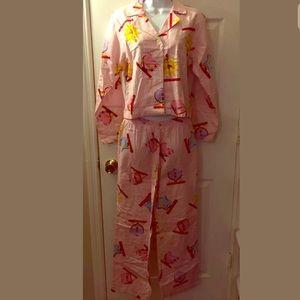🧘♀️New VS Pink Yoga Pajama Set Pants Top 2 pc